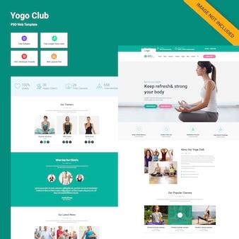 Interface web du yoga club