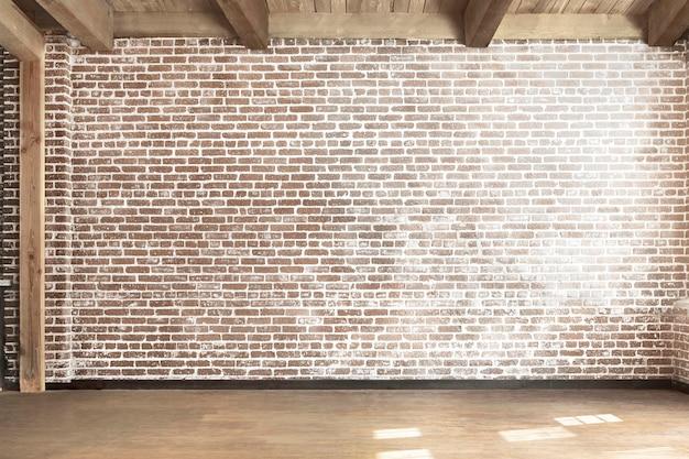 Intérieur du loft psd du mur de la pièce vide