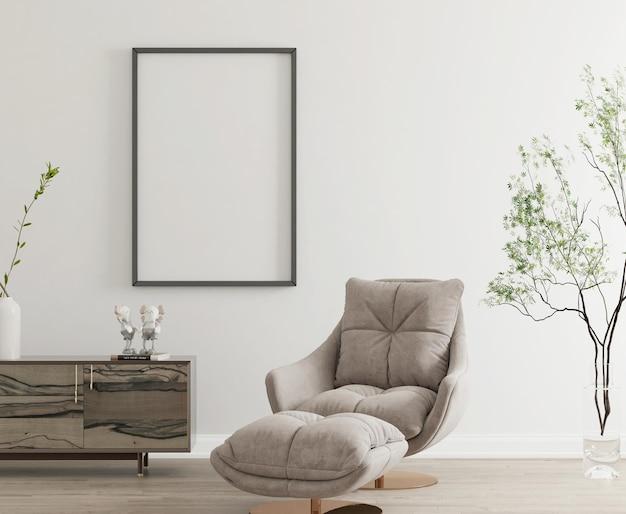 Intérieur minimaliste moderne avec poste de maquette