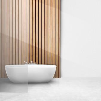Intérieur de salle de bain japandi psd