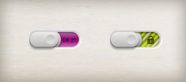 Interrupteur zip curseur