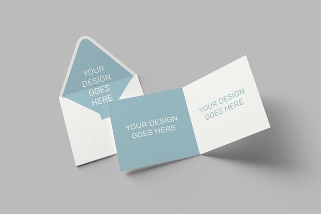 Invitation carrée et maquette de carte de voeux