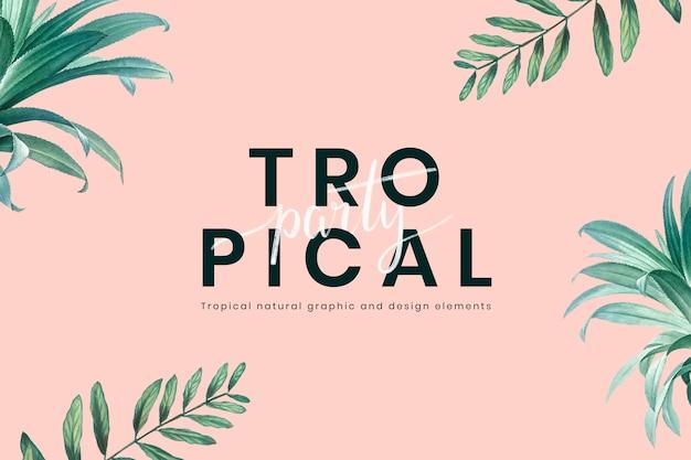 Invitation à une fête tropicale