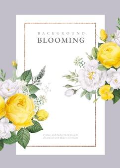 Invitation de mariage de conception florale