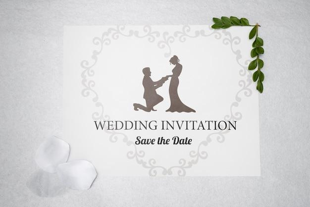 Invitation de mariage avec enregistrer la date