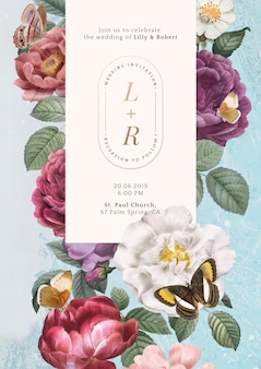 Invitation de mariage floral