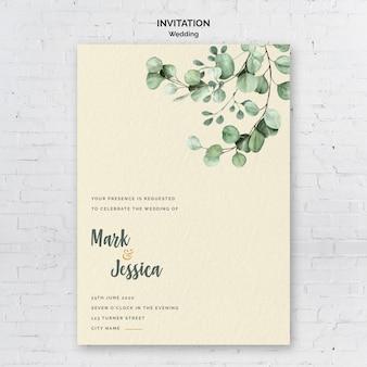 Invitation de mariage minimaliste