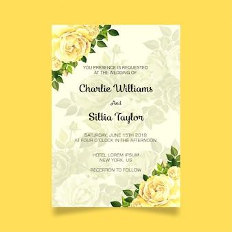 Invitation de mariage moderne
