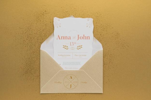 Invitation pour la célébration du mariage