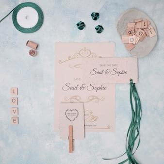Invitations de mariage minimalistes