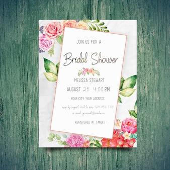 Invitations nuptiales de douche