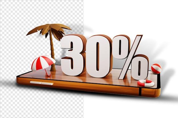 Isoler 30% de conception d'été sur smartphone