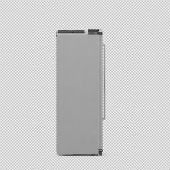 Isometric fridge 3d rendu isolé