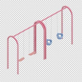Isométrique aire de jeux pour enfants