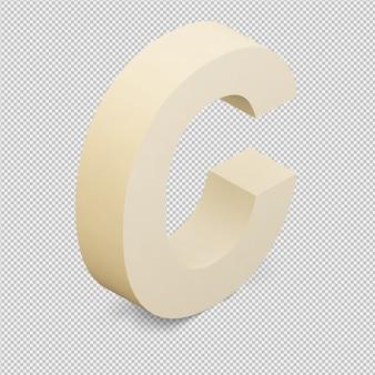 Isométrique alphabet 3d rendu isolé