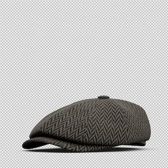 Isométrique chapeau 3d rendu isolé