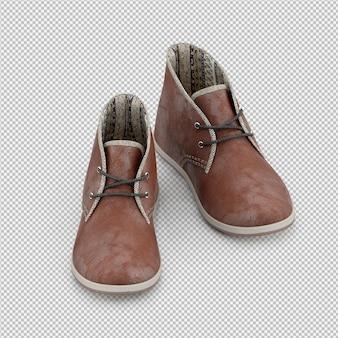 Isométrique chaussures 3d rendu isolé