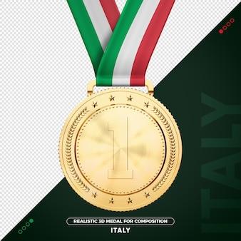 Italie médaille d'or pour la composition