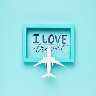 J'aime les voyages, devis de motivation pour le concept de voyage de vacances