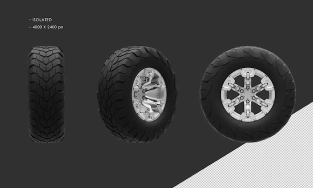 Jante et pneu isolés de roue de camion de double cabine hors route