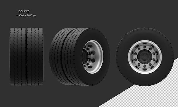Jante et pneu de roue arrière de camion de boîte isolée