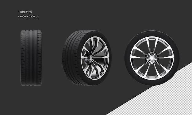 Jante et pneu de roue suv de luxe isolés