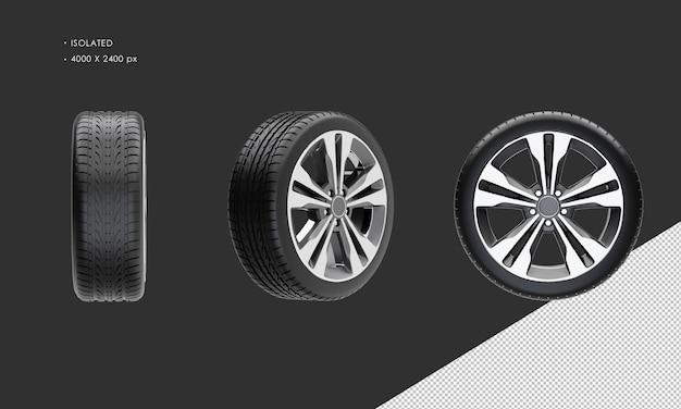 Jante et pneu de roue de voiture suv élégant isolé