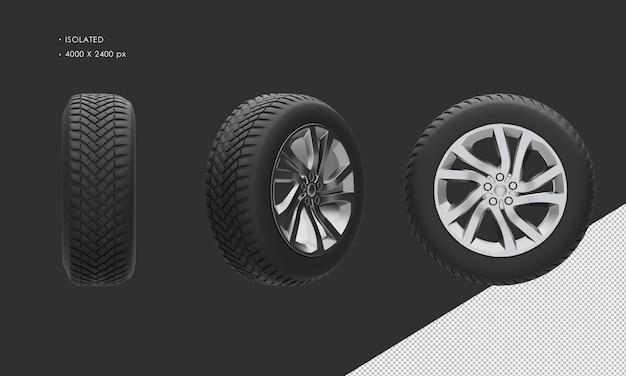 Jante et pneu de roue de voiture suv isolés