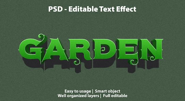 Jardin d'effets de texte modifiables