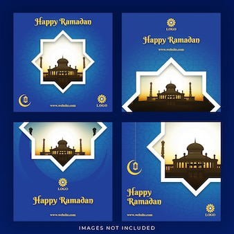 Jeu de bannière joyeux ramadan