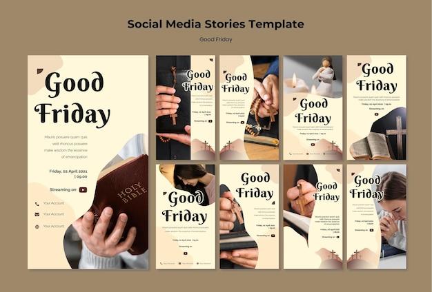 Jeu d'histoires instagram de vendredi saint