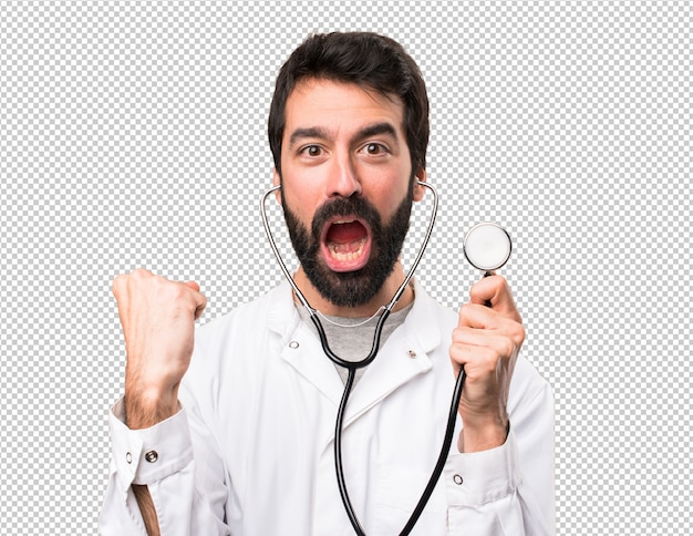 Jeune docteur avec stéthoscope