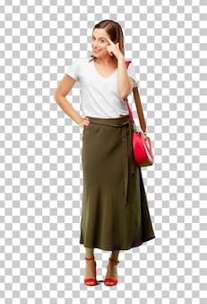 Jeune femme jolie et élégante découpée prête à être placée dans votre