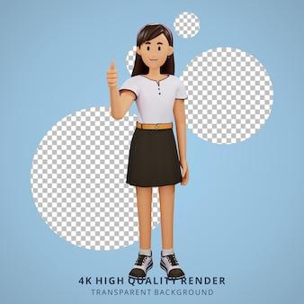 Les jeunes filles ont eu une idée illustration du personnage 3d