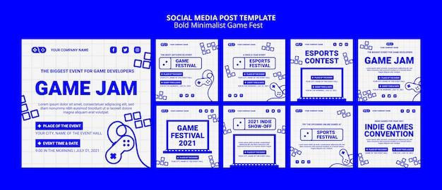 Jeux vidéo jam fest sur les médias sociaux