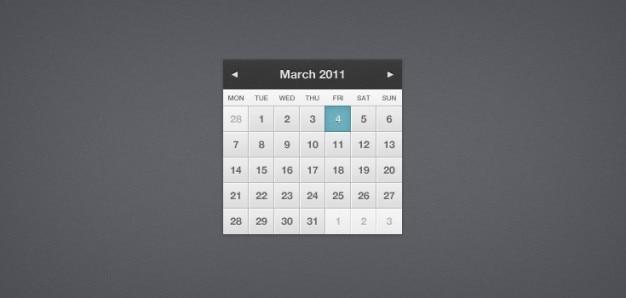 Joli petit calendrier (psd)