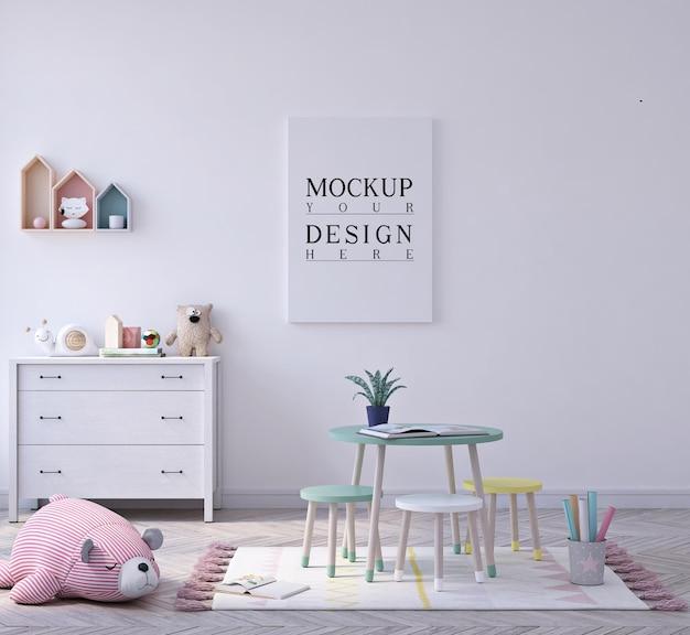 Joli petit jardin d'enfants en classe avec maquette d'affiche