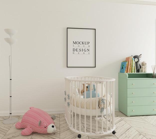 Jolie chambre d'enfant avec affiche de maquette