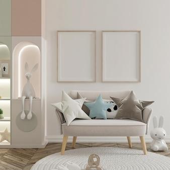 Jolie chambre d'enfants avec affiche de maquette