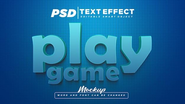 Jouer le texte modifiable d'effet de texte de jeu