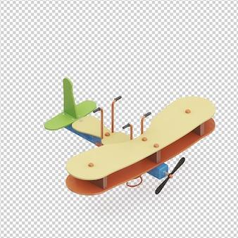 Jouet avion isométrique