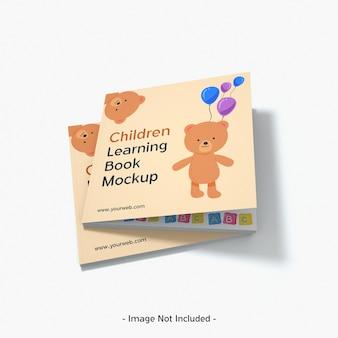 Jouets de magazine de papier pour enfants maquette de livre d'apprentissage