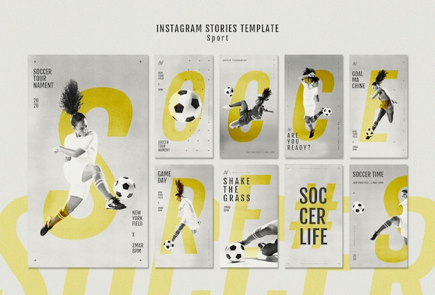 Joueur de football féminin histoires instagram