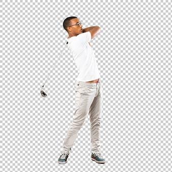 Joueur de golfeur afro-américain