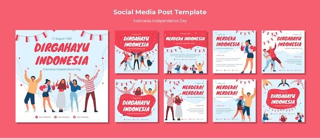 Jour de l'indépendance de l'indonésie sur les médias sociaux