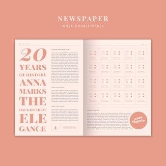 Journal de la mode double pages intérieures