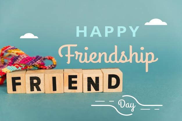 Journée de l'amitié avec bracelet tressé