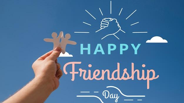 Journée de l'amitié en gros plan