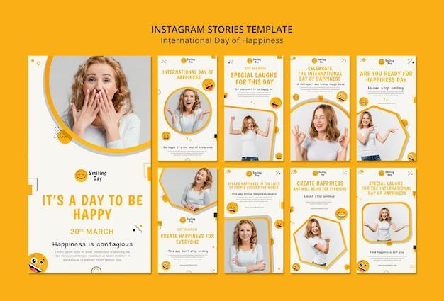 Journée internationale du bonheur instagram stories