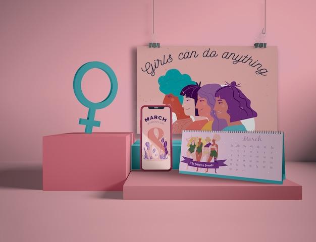 Journée internationale de la femme avec maquette